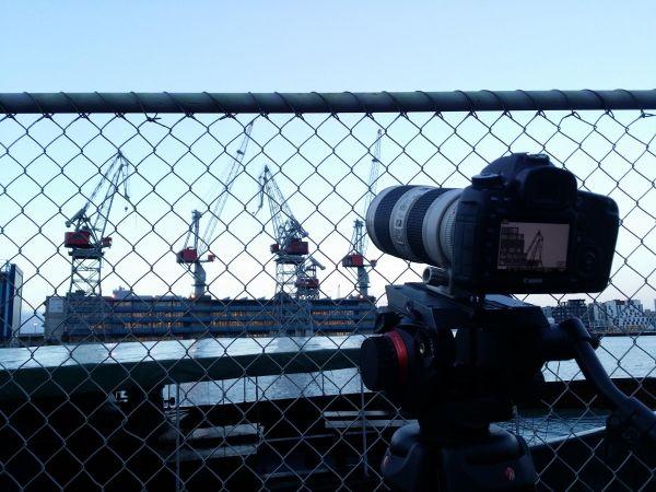 Cranes at Lindex shoot at the docks